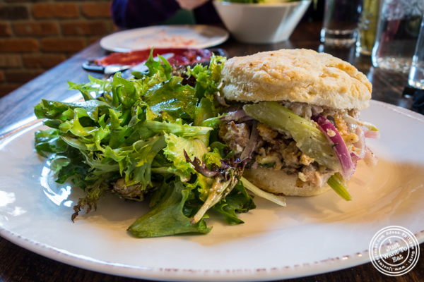 Chicken salad sandwich at Sorellina in Hoboken, NJ