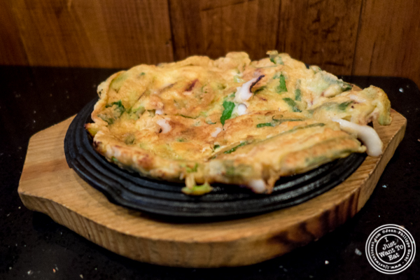 Seafood Pa Jeon at Hell's Chicken in NYC, New York