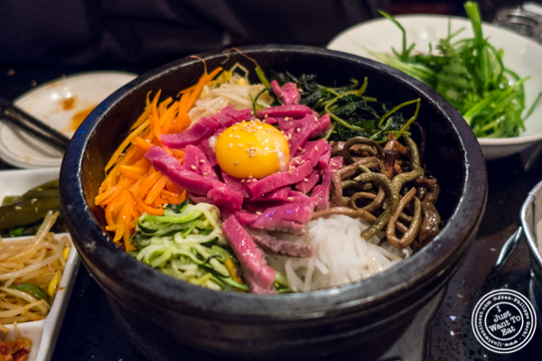 Yookhwe bibimbap at Hell's Chicken in NYC, New York