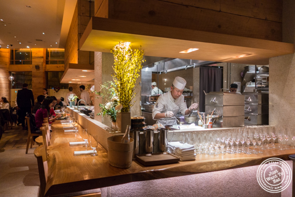 Open kitchen at Brushstroke in TriBeCa
