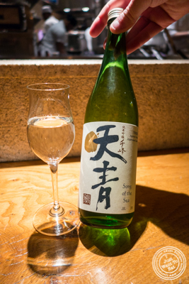 Song of the sea  Junmai Ginjo sake at Brushstroke in TriBeCa