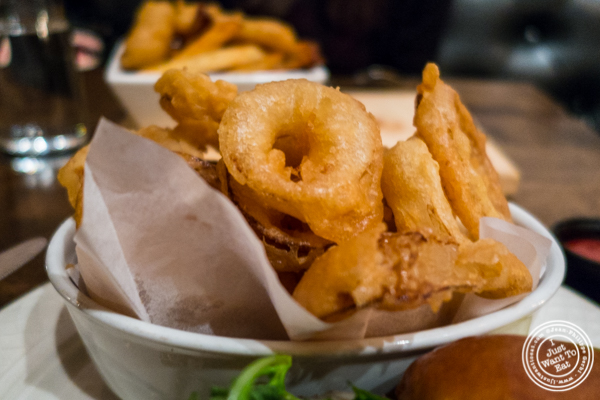 Onion rings at Church Street Tavern in TriBeCa