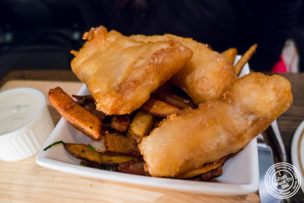 Fish and chips at Church Street Tavern in TriBeCa