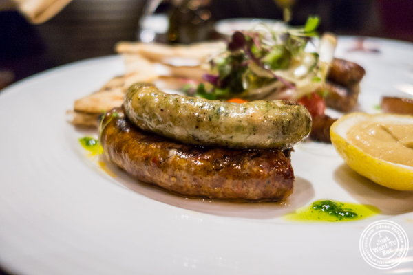 Sausage plate at North Square in NYC, New York