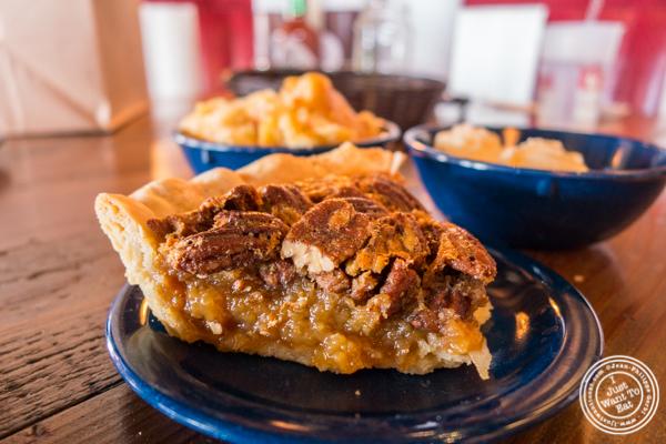 Pecan pie at House of Que in Hoboken, NJ