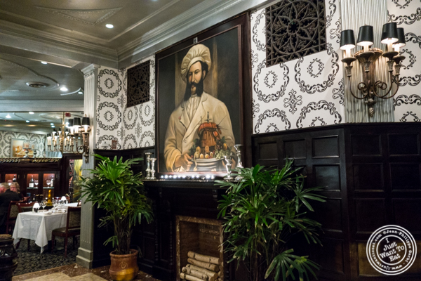Decor at Delmonico's Steakhouse in The Financial District