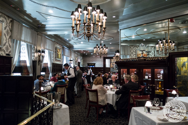 Dining room at Delmonico's Steakhouse in The Financial District