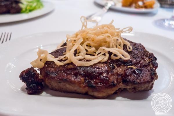 Delmonico's steak at Delmonico's Steakhouse in The Financial District