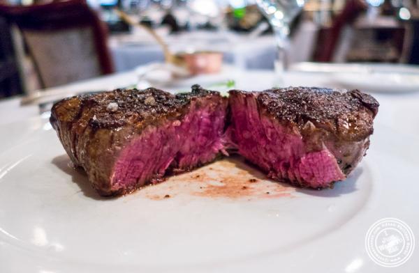 Filet mignon at Delmonico's Steakhouse in The Financial District