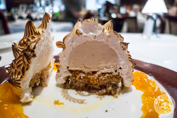 Baked Alaska at Delmonico's Steakhouse in The Financial District