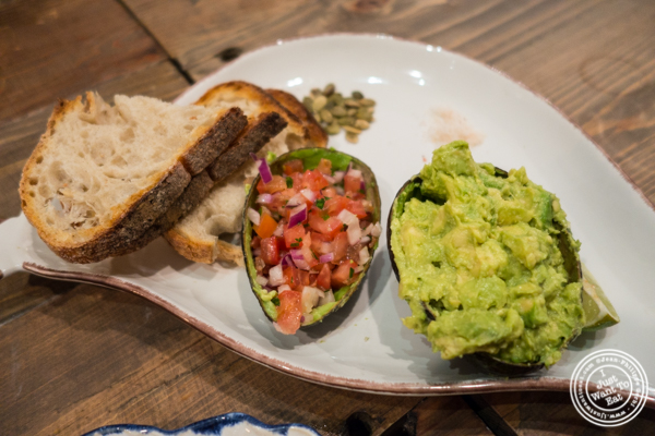 Deconstructed avocado toast at Maman in TriBeCa
