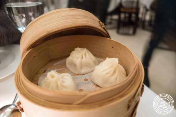 Soup dumpling at Mr Chow in TriBeCa