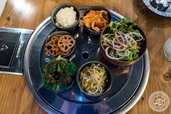 Banchan at Gunbae in TriBeCa