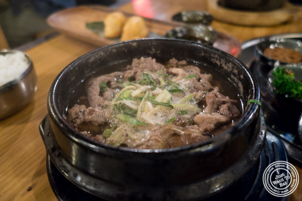 Bulgogi hot pot at Gunbae in TriBeCa