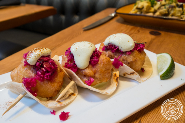Lobster tacos at Beauty and Essex in The Lower East Side