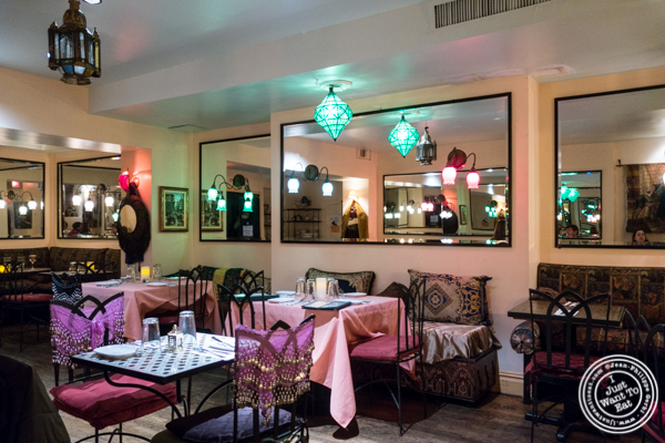 Dining room at Salam café in Greenwich Village, NYC