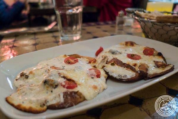 Sfia or Syrian flatbread at Salam café in Greenwich Village, NYC