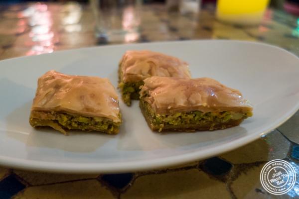 Baklava at Salam café in Greenwich Village, NYC