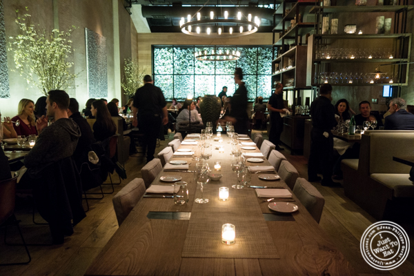 Dining room at Tutto Il Giorno in TriBeCa, NYC