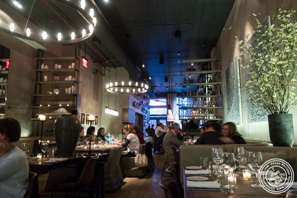 Dining room at Tutto Il Giorno in TriBeCa, NYC