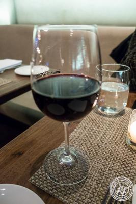 Glass of Montepulciano at Tutto Il Giorno in TriBeCa, NYC