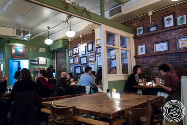 Dining room at Bubby's in TriBeCa, NYC