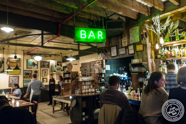 Bar area at Bubby's in TriBeCa, NYC