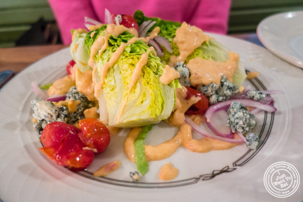 Wedge salad at Bubby's in TriBeCa, NYC