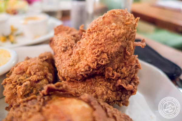 Fried chicken at Bubby's in TriBeCa, NYC