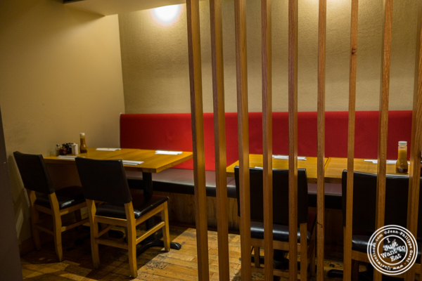 Dining room at Katsu Hama in NYC, New York