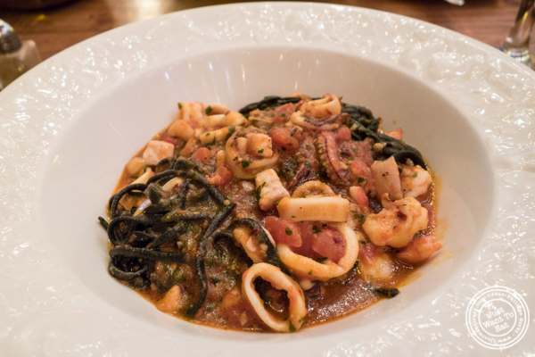 Fettucine nere di mare at Pepolino in TriBeCa, NYC