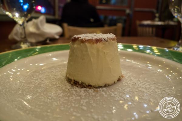 Creme caramel at Pepolino in TriBeCa, NYC