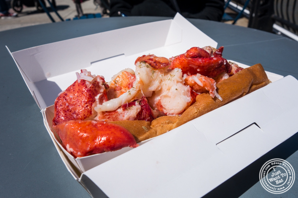 The Lobster roll from Luke's Lobster at Pier 13 in Hoboken, NJ