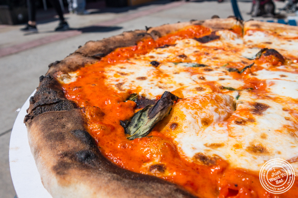 Vodka sauce pizza at Pier 13 in Hoboken, NJ