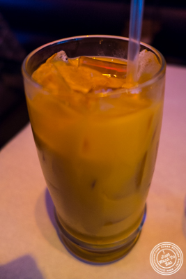 Thai iced tea at Yum Yum BangKok, Thai Restaurant in Hell's Kitchen