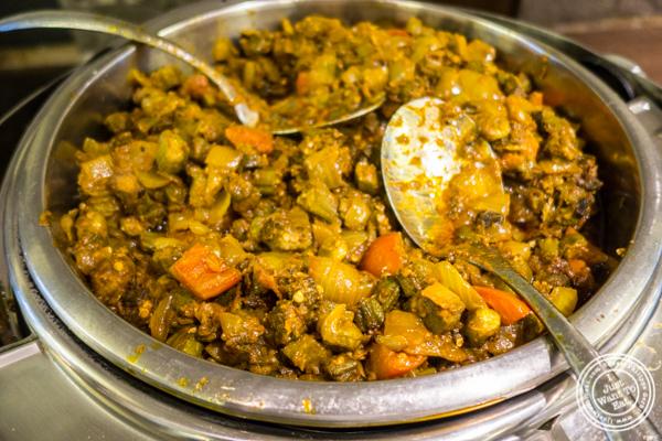 Bhindi Masala at Utsav, Indian restaurant Midtown Manhattan