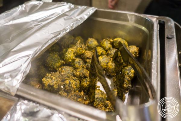 Spinach fritters at Utsav, Indian restaurant Midtown Manhattan