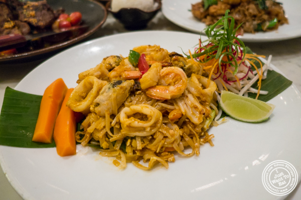Seafood Tom Yum pad thai at Bangkok Cuisine Upper East Side, NYC