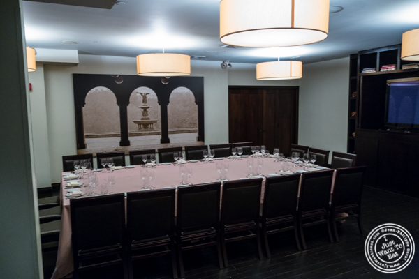 Private dining room at BLT Prime in NYC, New York