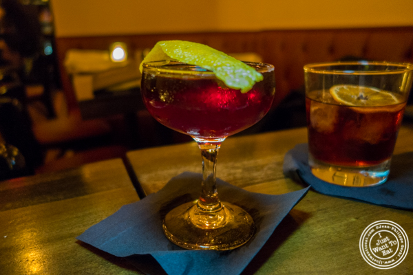 The Gilroy negroni at The Gilroy on the Upper East Side, NYC, New York