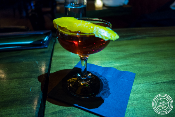 Old pal negroni at The Gilroy on the Upper East Side, NYC, New York