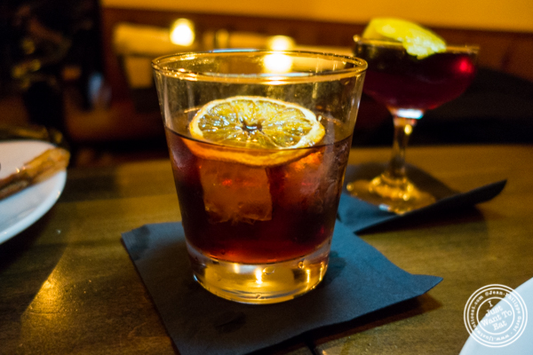 Old Oscar negroni at The Gilroy on the Upper East Side, NYC, New York