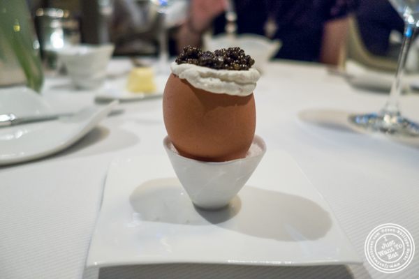Egg caviar at Jean-Georges in NYC, New York
