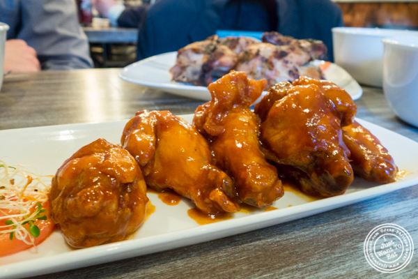 Buffalo wings at Roast Homestyle Chicken in East Harlem, NYC