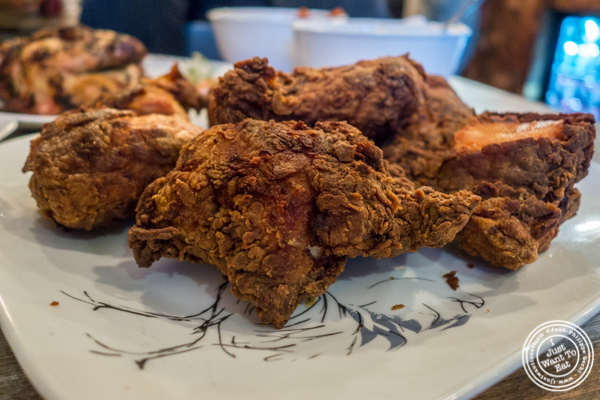 Fried chicken at Roast Homestyle Chicken in East Harlem, NYC