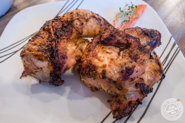 Rotisserie chicken at Roast Homestyle Chicken in East Harlem, NYC