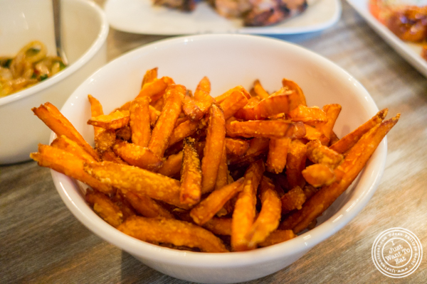Sweet potato fries at Roast Homestyle Chicken in East Harlem, NYC