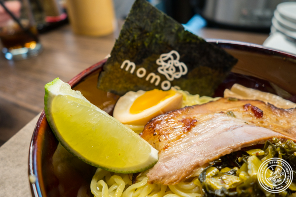 Tsukemen ramen at Momosan Ramen and Sake in NYC, New York