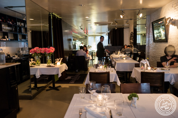 Dining room at Prime and Beyond, Korean steakhouse in New York