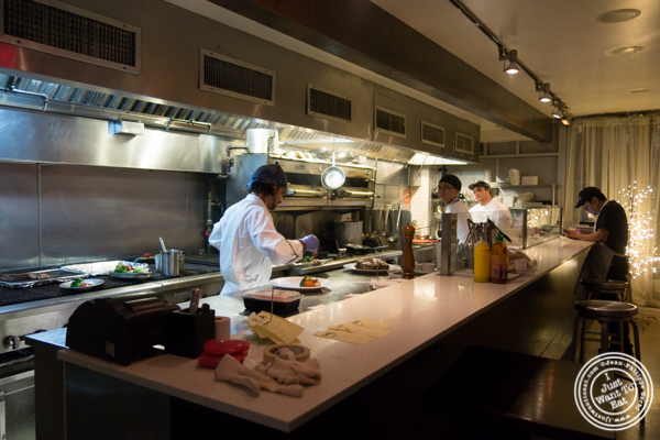 Open kitchen at Prime and Beyond, Korean steakhouse in New York